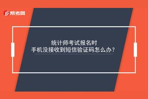报考会计从业考试收不到短信验证码怎么办